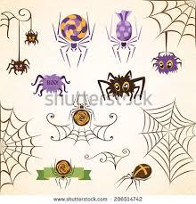 Decorative Spiders Set Spider Cartoons Vector Stock Vector 156685661 Shutterstock