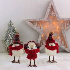 three christmas winter bird decorations love unique boutique