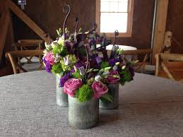 Tin Vases Spectacular Event Floral Arrangements For Weddings Parties And Events