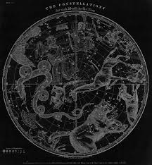 Map Of Constellations Elijah Burritt The Constellations Of The Northern And Southern