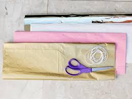 How To Fold Paper For Envelope Make Your Own Tissue Paper Tassel Garland Hgtv