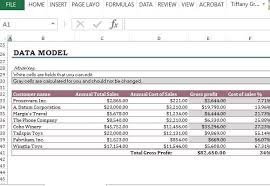 Excel Costing Template Cost Of Sales Analysis Excel Template