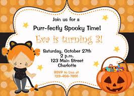 halloween themed birthday party invitations cimvitation