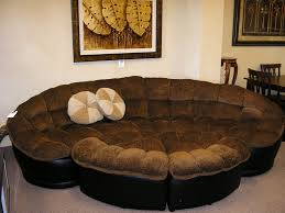 Oversized Furniture Living Room by Living Room Soft Brown Colored Round Microfiber Sectional Couch