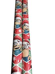 gift wrap paper rolls gift wrap minions wrapping paper 1 roll