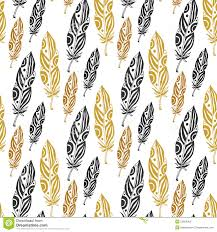 Cute Black And White Wallpapers by Cute Seamless Pattern With Feathers On White Background Stock