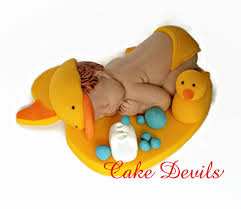 duck decorations sleeping baby duck fondant cake topper rubber ducky baby shower