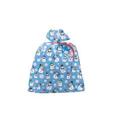 amazon com plastic jumbo snowman holiday gift bag gift wrap bags