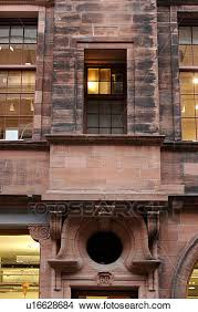 stock photo of detail of building by charles rennie mackintosh