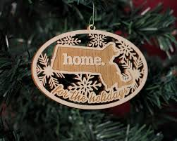 wooden christmas ornaments wooden christmas ornaments home state apparel