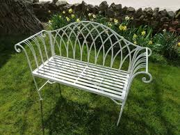 White Cast Iron Patio Furniture Garden Bench Hardwood Garden Furniture Antique Wrought Iron
