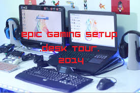 Gaming Desk Setups by My Gaming Desk Setup Tour 2014 Youtube