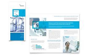 trifold brochure in word science chemistry tri fold brochure