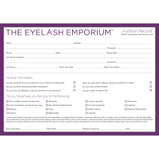 beauty makeup quote audition record u0026 consultation cards extensions salons and brows