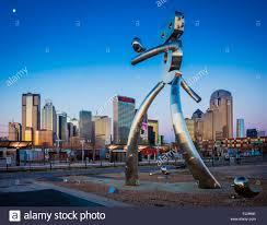 Texas traveling images Metal sculpture quot traveling man quot in the deep ellum neighborhood of jpg