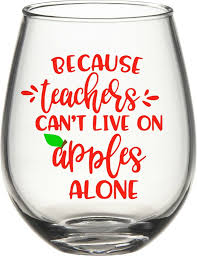 wine glass svg because teachers can u0027t live off apples alone wine svg dxf eps png cut