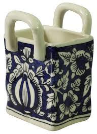 home décor items u2013 handmade ceramic basket u2013 blue u0026 white u2013 floral