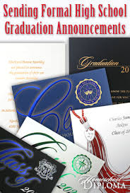 formal high school graduation announcements homeschool graduation sending formal high school