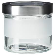 ikea kitchen canisters droppar jar with lid frosted glass stainless steel 0 4 l ikea