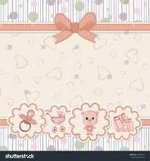 baby shower invitation teddy bear stock vector 437356072