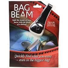 bag with light inside bag beam led purse and totebag clip light