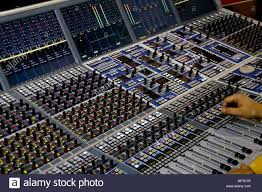 Studio Console Desk by Professional Audio Mixer Desk At The Studio Stock Photo Royalty