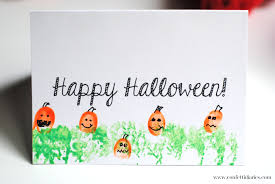 Free Halloween Cards Printable Free Printable Halloween Fingerprint Pumpkin Patch Cards