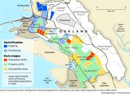 map of oakland gentrification transforming of oakland sfgate
