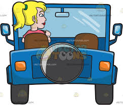 christmas jeep clip art a woman driving a blue jeep cartoon clipart vector toons