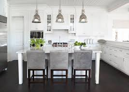 decorating cabinets in contemporary kitchen plus counter stools