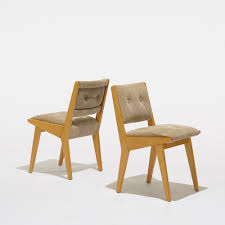 305 jens risom dining chairs model 666usp set of four