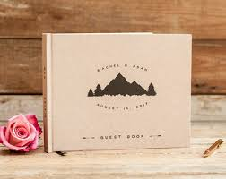 wedding guest book pages mountain guest book etsy