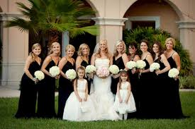 black and white wedding black white wedding bridesmaids dresses oosile