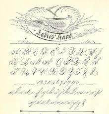 ancestrial handwriting spencerian script familytree