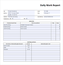 Daily Report Sheet Template Best Photos Of Daily Report Template Daily Production Report