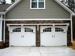 Dimensions Of A Two Car Garage Garage Doors Two Car Garage With White Attached Pergola Easy Diy