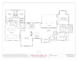 ranch style house plans loft courtyard home floor open plan homes
