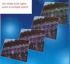 set of 100 blue and white g30 globe icicle christmas lights