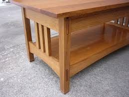 Mission Style Nightstand Plans Handmade Quartersawn Oak Mission Style Coffee Table And End Table