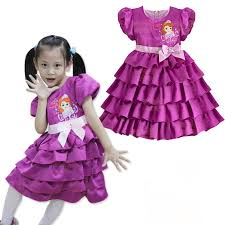 aliexpress com buy purple princess sofia dress cupcake kids