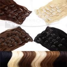 lcp extensions clip in extensions echthaar set 60 cm haarlänge