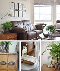decorating around a leather sofa decorating dark and brown