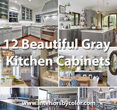 what paint color goes best with gray kitchen cabinets 12 beautiful gray kitchen cabinets interiors by color
