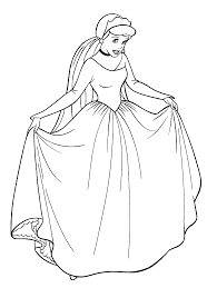 walt disney cinderella coloring pages for kids cartoon coloring