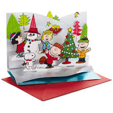 peanuts gang pop up christmas cards box of 5 boxed cards