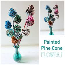 beautiful painted pine cone flowers kids art emma owl