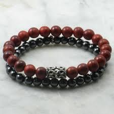 mens bracelet beads images Kamadeva bracelets for men rosewood beads mala bracelets stacks jpg