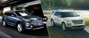 suv ford explorer hyundai santa fe vs 2016 ford explorer