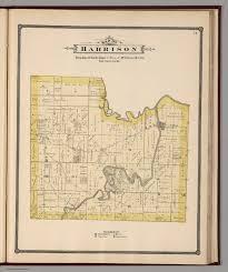 Illinois Township Map by Harrison Township Winnebago County Illinois David Rumsey