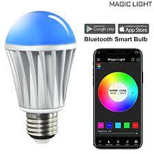 smart light bulbs amazon magiclight bluetooth smart light bulb 60w equivalent wake up